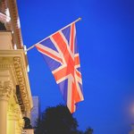 British Flag outside the hotel