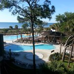 Our view of the pools and ocean