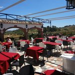 The Terrace with panoramic views ahead of the lunch crowd.  On Sundays it is jammed.