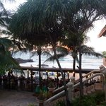 View over beach restaurant/beach