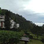 Lovely views from the hotel grounds... sea of clouds in the morning.
