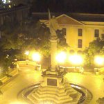 Night view of Plaza Colon from 5th floor balcony.