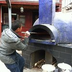 Pizza oven at The Here in Baisha Town- fantastic pizza