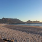 Table Mountain viewd from sea shore