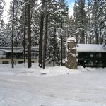 Tamarack Lodge in winter.