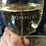 bubbly after the Pommery tour