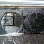 Inside Walgreens,they store vitamins in the old bank vault.