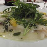 Delicious swordfish carpaccio at the hotel's restaurant!