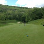 View from the 10th tee on the Double Black Diamond Golf Course at Holiday Valley.