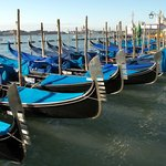 line of gondolas