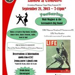 USO Style Big Band & Concert Saturday Sept 21, 2013