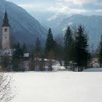 Church near Lake Bohinj Triglav