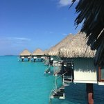 Typical overwater bungalow on the west side