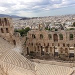 Theatre of Dionysus, about 10-15 minutes walk from Marble House