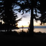 Sunset over the Inside Passage and the Belle Vue gardens