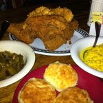 Chicken, biscuits, and sides