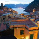 Looking over Vernazza from the terrace, above the apartment