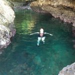 Swimming in the cave