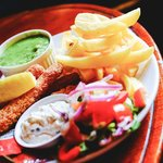 Fish and Chips with Fish Fingers
