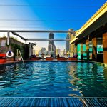 Rooftop pool with Leap Frog bar