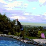 A fabulous pool, overlooking the Rift Valley
