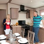 Kelling Heath Nightjar Holiday Home kitchen