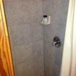 Stand up shower stall in cabin 2