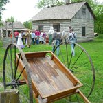 Teens learning about life on the prairie frontier.