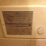 Nasty fan in bathroom needed cleaning desperately!!!