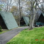 The A-frame cabins...very cool