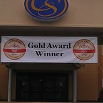 Our 2013 Choice Hotels Gold  Medal winner banner