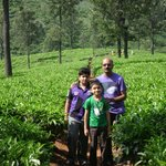 myself with kids in adjacent tea plantations.