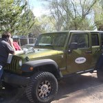 On site jeep rentals from 4 Corners Jeep Rentals, David mapping out a tour route