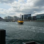 Ferry approaching Islands Brygge dock