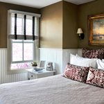 The warm and cozy Highland Light room - popular at our Ptown B&B