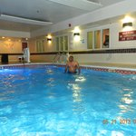 A dip in the indoor pool - Nice!