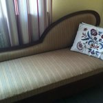 Fainting couch in the bedroom