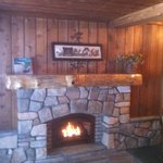 Fireplace Log Cabin