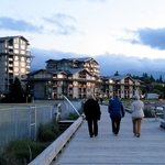 Beach Club Resort from beach boardwalk, Parksville