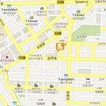 this map in Korean will help the taxi driver / cette carte en coréen sera utile pour le chauffeu