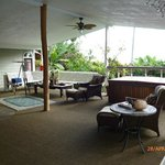 Lanai area with hot tub