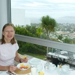 Fruit followed by cooked breakfast - with a view !