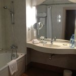 Nice large bathroom for our double queen bed room.