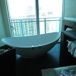 Our bathtub with a beautiful view of the Ocean.