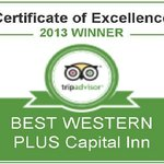 Top 10% on Trip Advisor in 2013