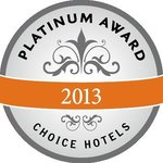 2013 Choice Hotels Platinum Award Winner