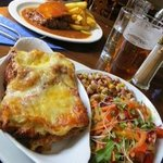 Lasagne with side salads