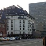 Copenhagen Plaza Hotel with Tivoli Gardens to the east