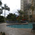 Sabal Palm building, pool side