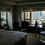Our room, overlooking the Magnificent Mile